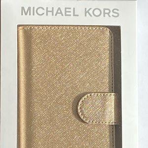 Michael Kors Gold iPhone X/XS Folio Phone Case